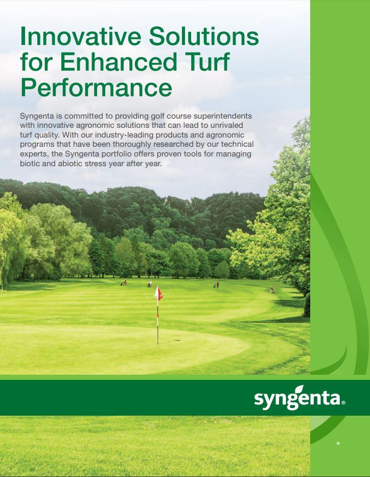 Syngenta Golf Portfolio Brochure